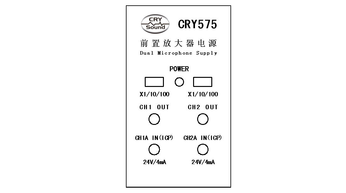 CRY575 Front Panel